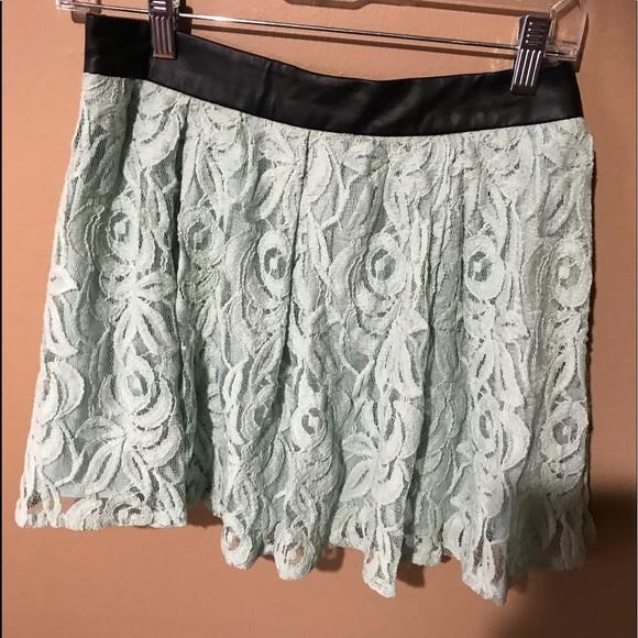 BCBGeneration Dresses & Skirts - NWT BCBG Mint Green Lace Mini Skirt